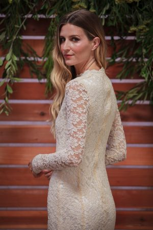 long-sleeve-simple-lace-wedding-dress-for-the-laid-back-boho-bride