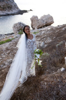 real-bride-josefina-in-bohemian-white-lace-dress-with-sleeves