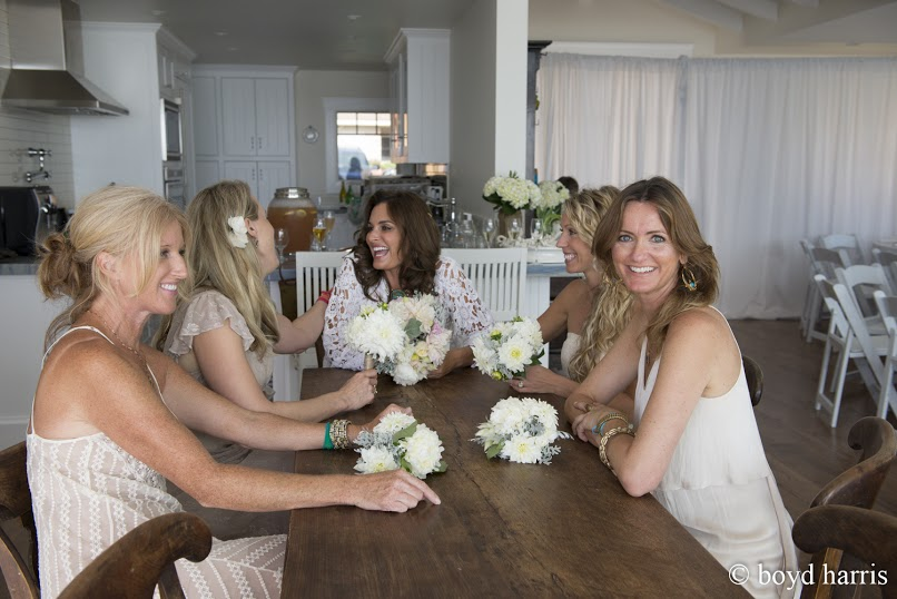 bridesmaids-with-bride-bohemian-beach-wedding