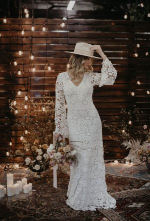 bell-sleeve-maxi-lace-dress-for-the-boho-bride