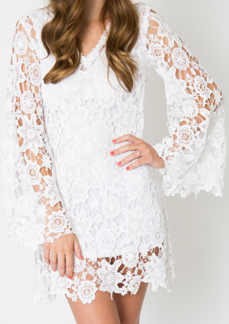 back-view-bell-sleeve-mini-dress-alternative-wedding