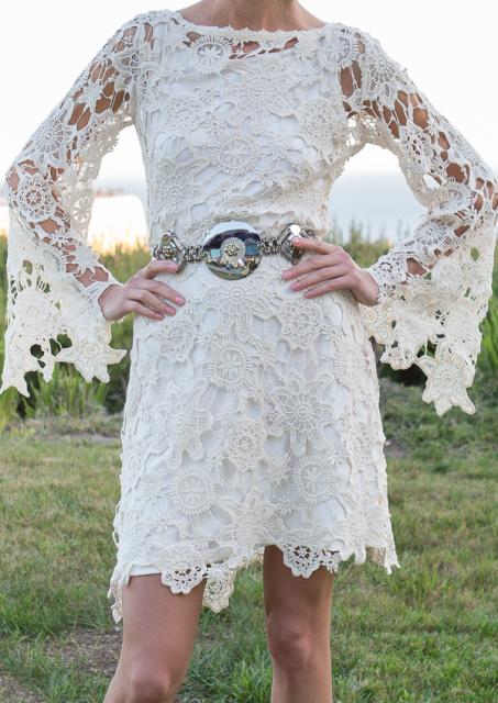 Bella Lace Dress Close Up