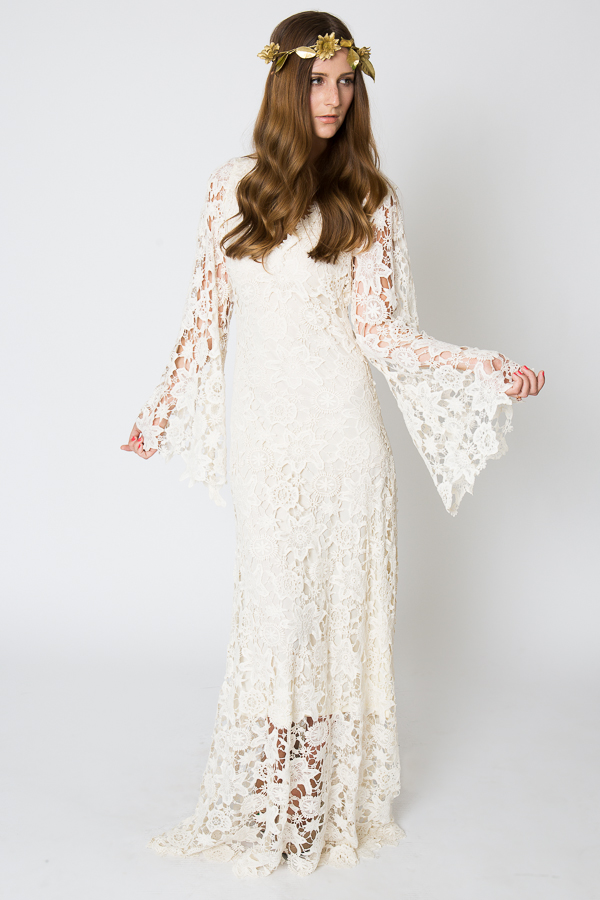 Racquel Bell Sleeve Lace Maxi Dress | Dreamers and Lovers