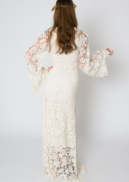 back-view-bell-sleeve-maxi-bohemian-lace-dress