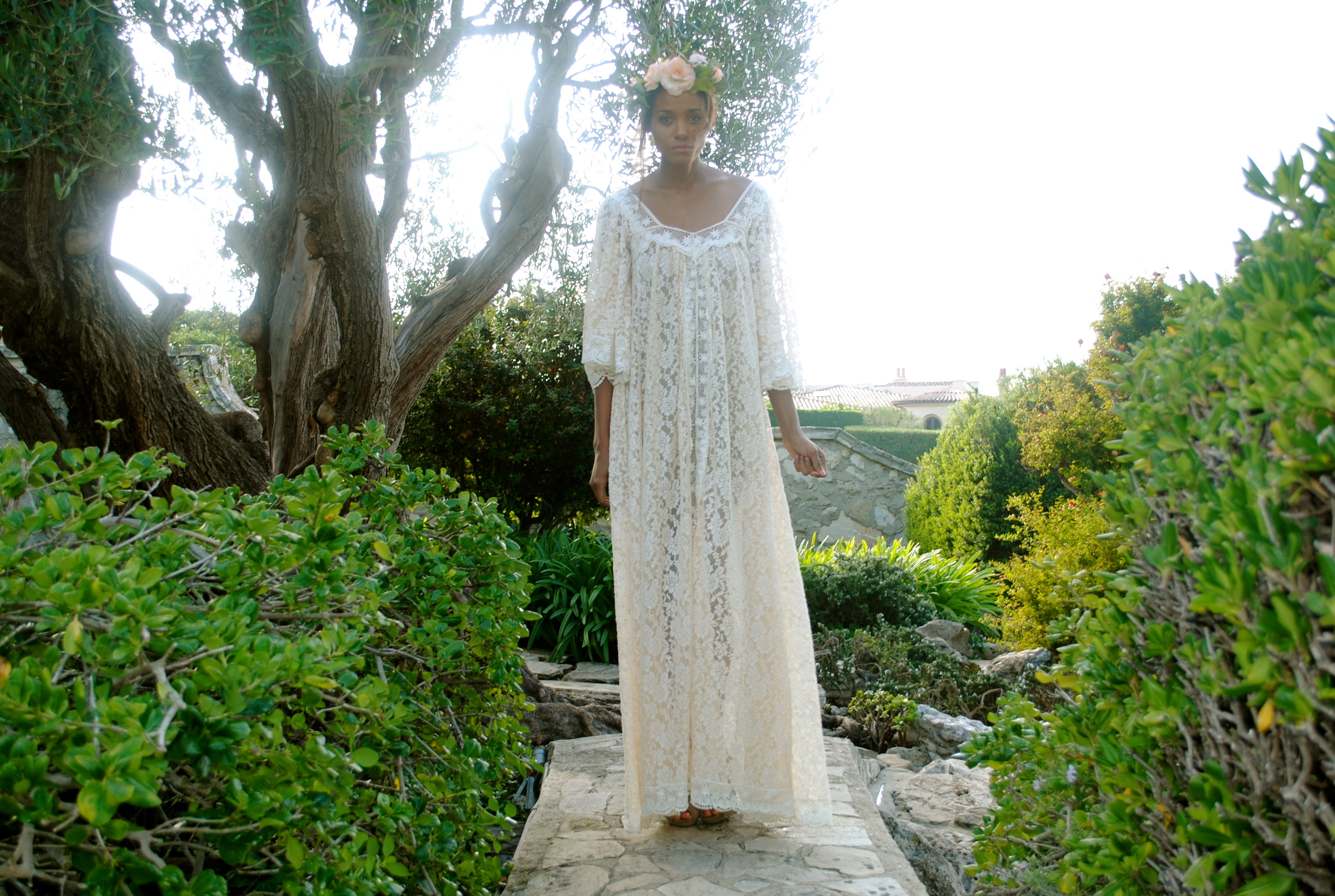Look Bohemian Chic in the Lace Maxi Dress