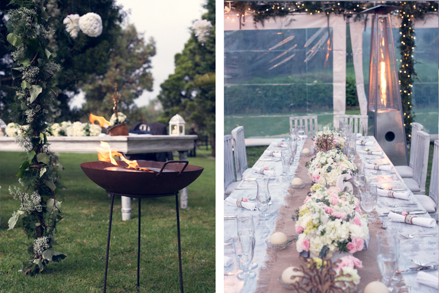 bohemian-rustic-wedding-table-setting-and-firepit