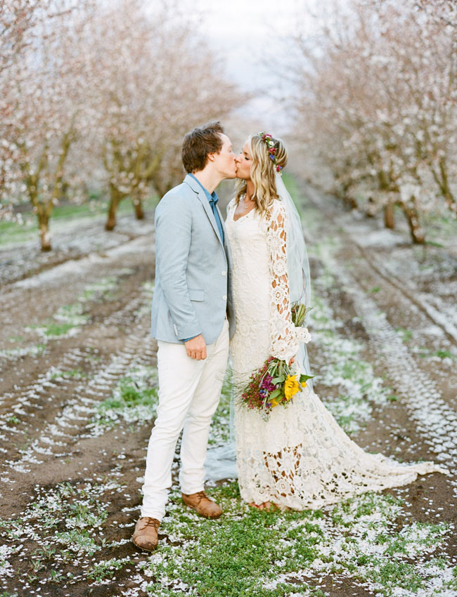 Dreamy Orchard Bohemian Wedding