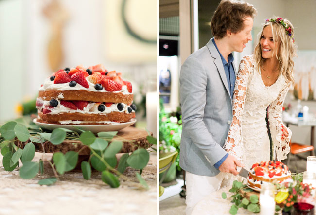 rustic-bohemian-naked-wedding-cake-happy-couple
