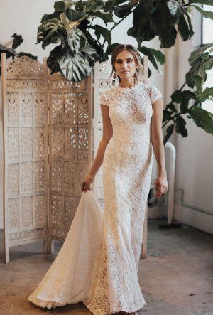 AGNES CAP SLEEVE WEDDING DRESS