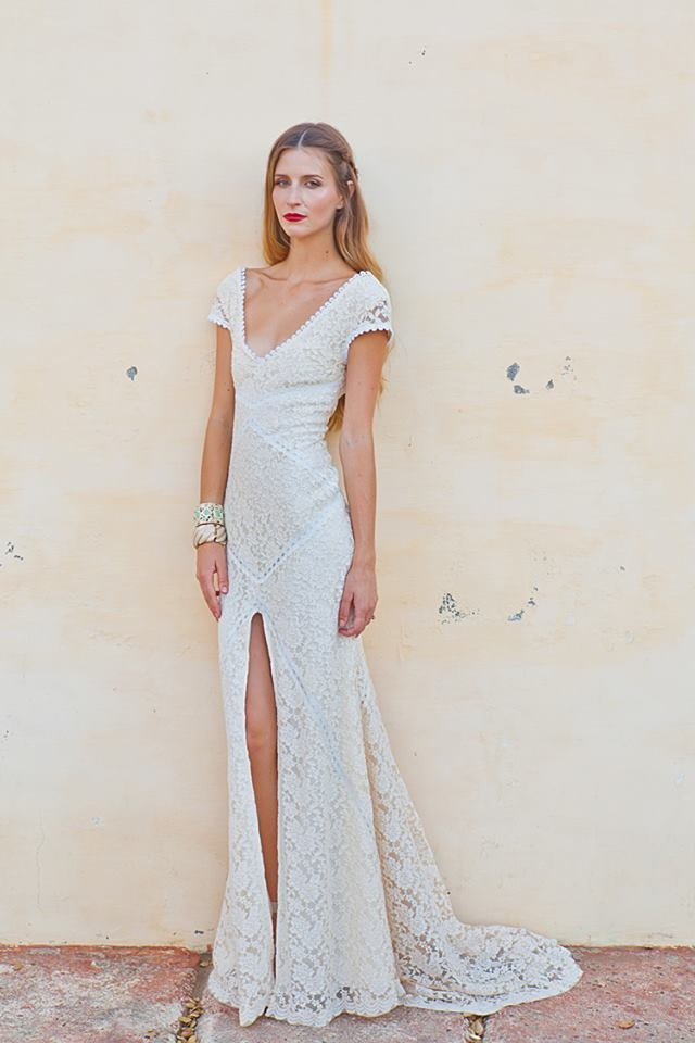 Alexandra Lace Bohemian Wedding Dress | Dreamers and Lovers