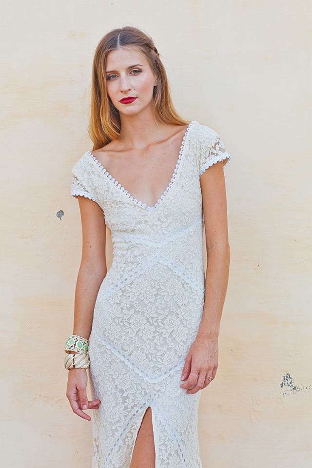 Alexandra Lace Bohemian Wedding Dress | Dreamers and Lovers