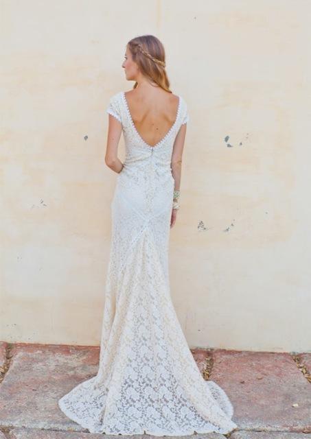 Alexandra Lace Bohemian Wedding Dress | Dreamers and Lovers Lace Hippie Wedding Dress