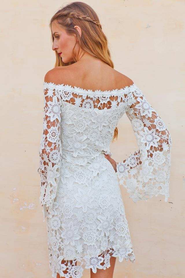 Ivory Boho Lace Dress Hippie Wedding Dresses Dreamers And Lovers