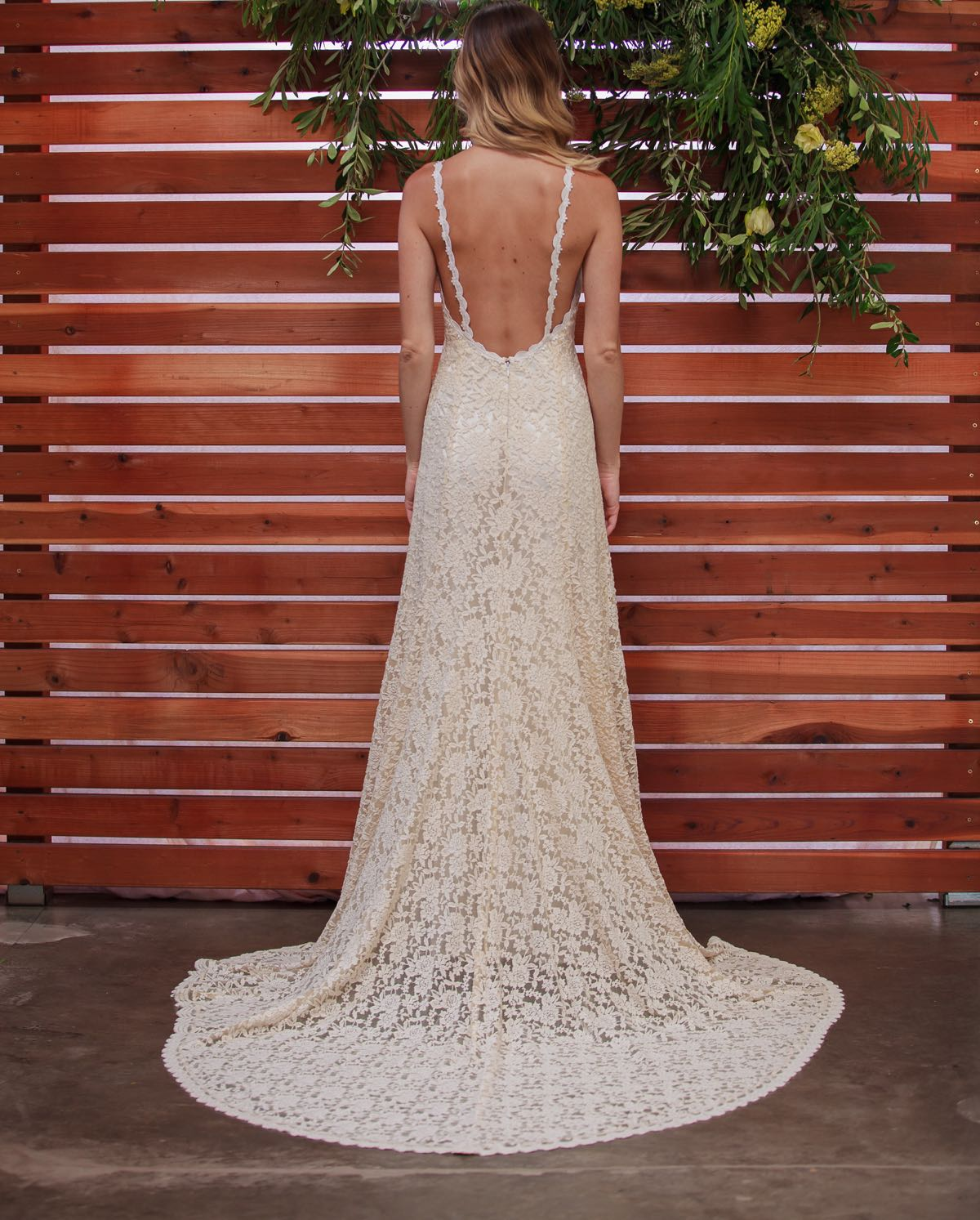 Amber Backless Bohemian Wedding Dress | Dreamers and Lovers