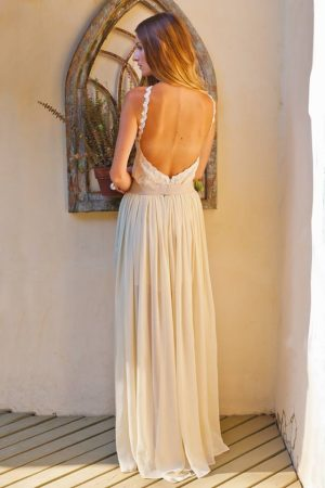 backless-2-piece-wedding-dress-bodysuit-and-silk-chiffom-skirt