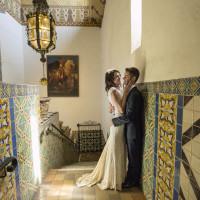real-bohemian-bride-amanda-and-groom-wearing-boho-lace-wedding-dress