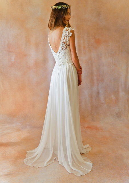 bohemian-wedding-dress-bckless-lace-top-silk-chiddon-floor-length-skirt