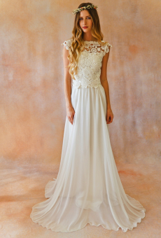 2-piece-boho-wedding-skirt-and-lace-crochet-top-with-plunging-back