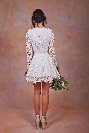 daniela-lace-short-dress-long-sleeved-back-view