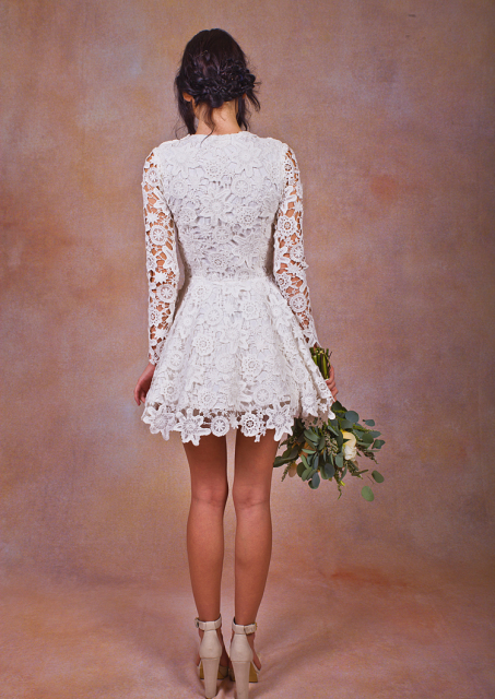 daniela-lace-short-dress-long-sleeved-back-view