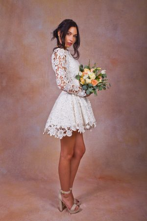 side-view-daniela-short-lace-dress-bohemian-wedding-style
