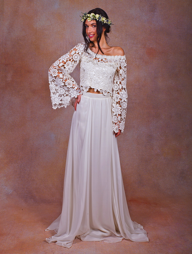 Boho lace top silk chiffon skirt dreamers and lovers for Wedding dresses for groom