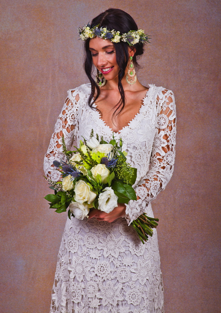 long-sleeve-bohemian-wedding-dress-with-v-neck-and-back