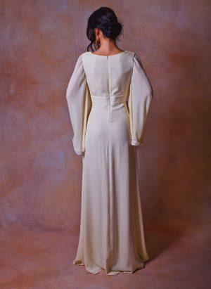 back-view-angel-bell-sleeve-silk-chiffon-wedding-dress