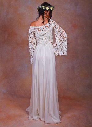 bohemian-two-piece-chiffon-and-lace-wedding-dress-sflowy-and-romantic