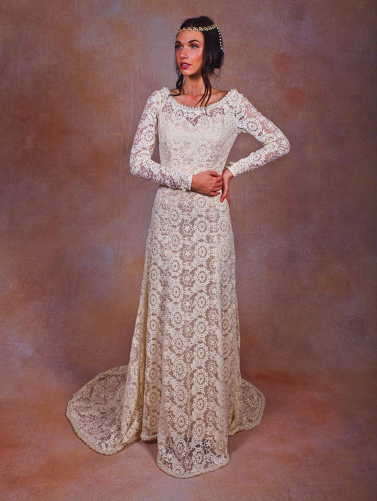 bohemian-wedding-dress-with-long-sleeves-beaded