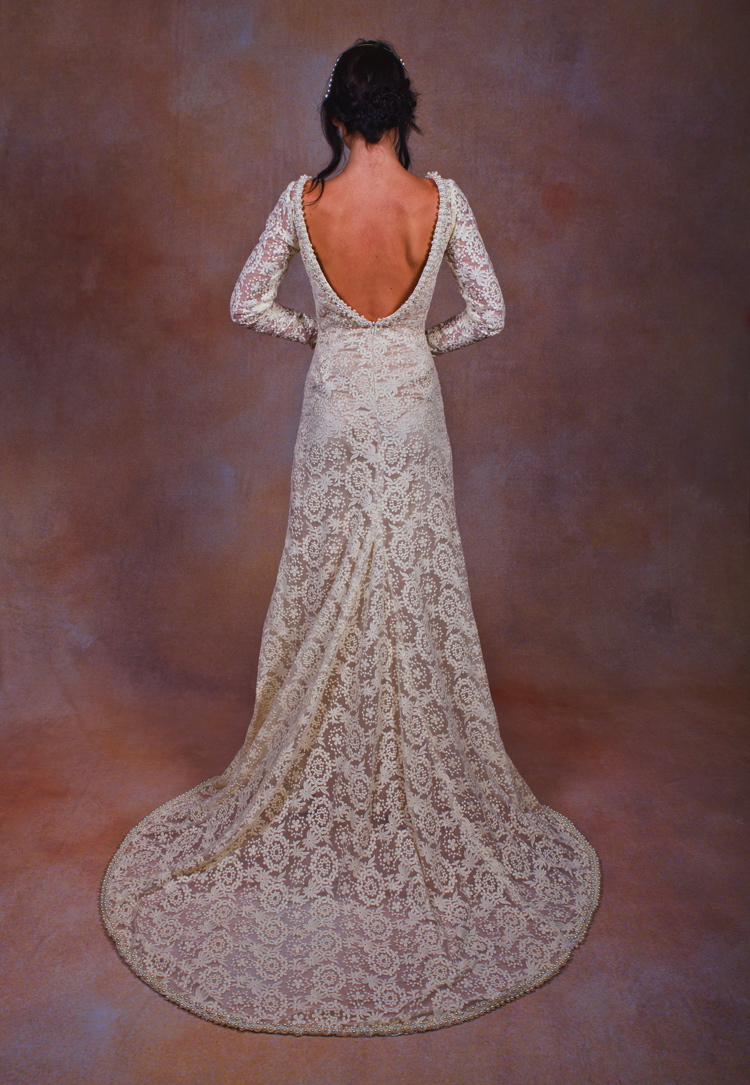 Bianca 2-Piece Lace Silk Wedding Dress | Dreamers and Lovers