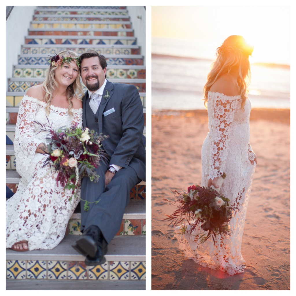 beach-bohemian-wedding-bride-and-groom