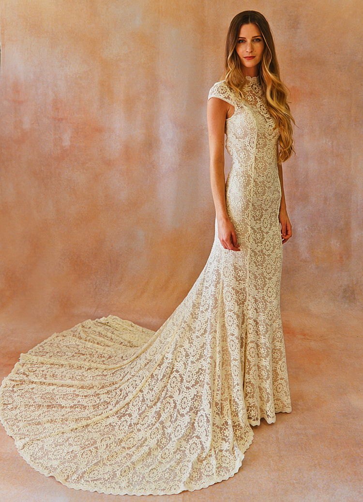 Alice Cap Sleeve Lace Wedding Dress | Dreamers and Lovers