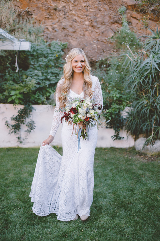 A Fab Bohemian Bride + Non-Traditional Wedding Vows