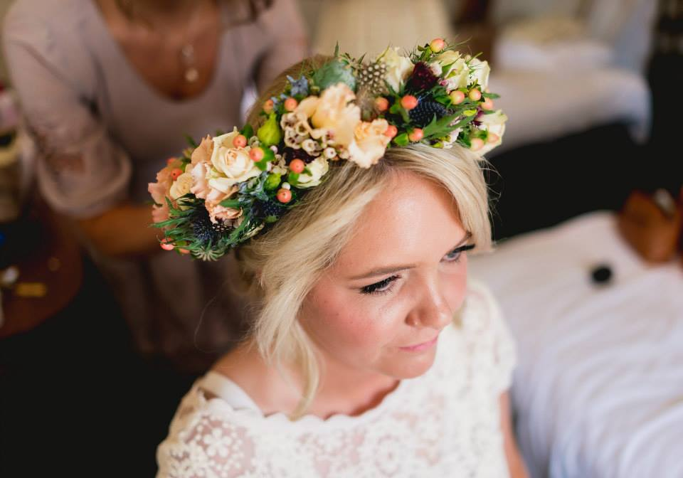 gorgeous-flower-crown-worn-by-UK-bohemian-bride-Poppy