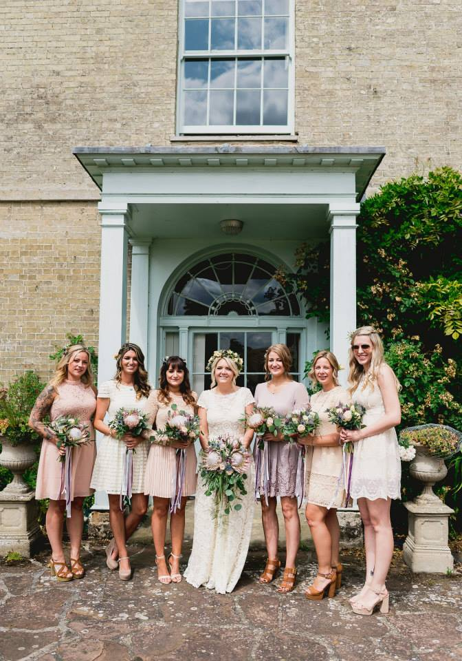boho-bride-poppy-with-bridesmaids-wearing-mismatched-dresses