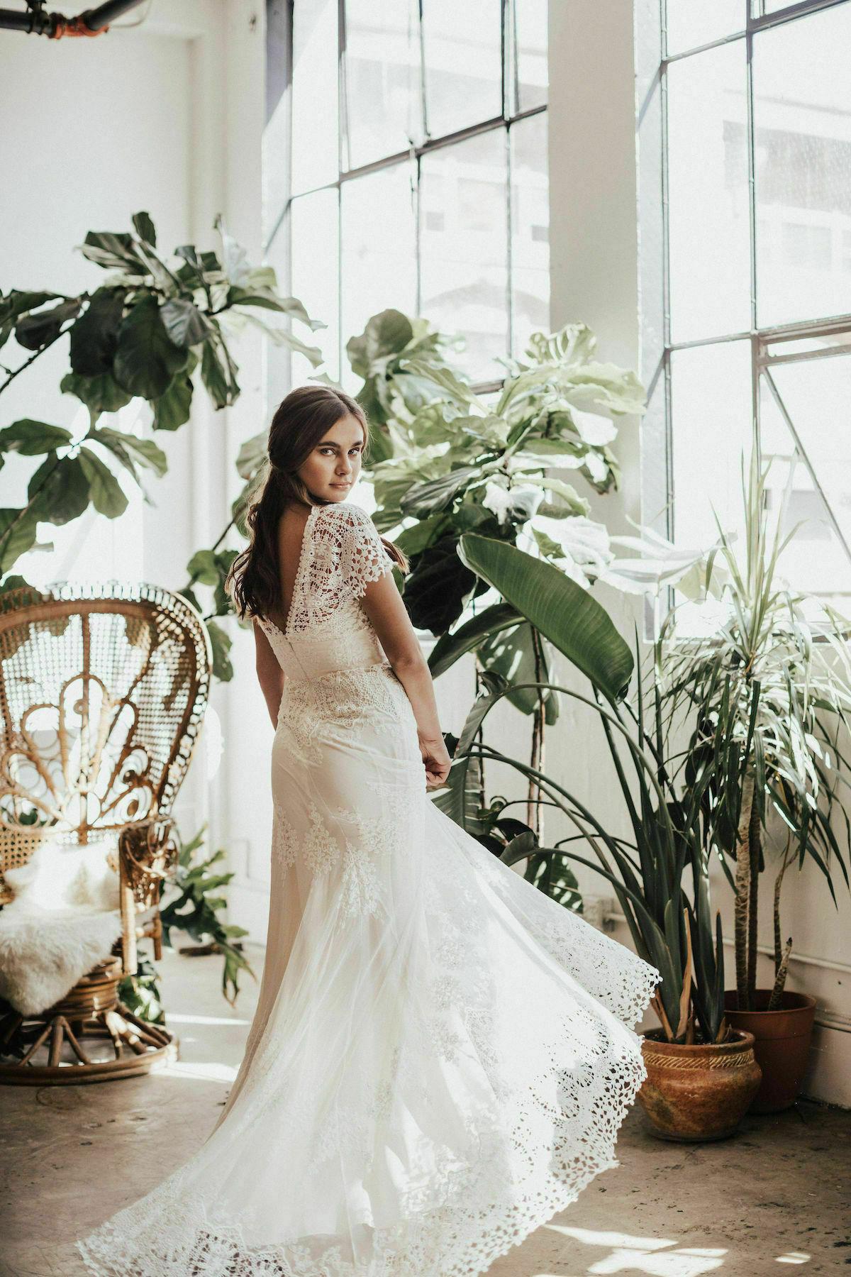 d0b4c7208748 Azalea Boho Cotton Lace Wedding Dress | Dreamers and Lovers