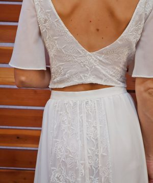 detail-shot-silk-two-piece-bohemian-wedding-dress