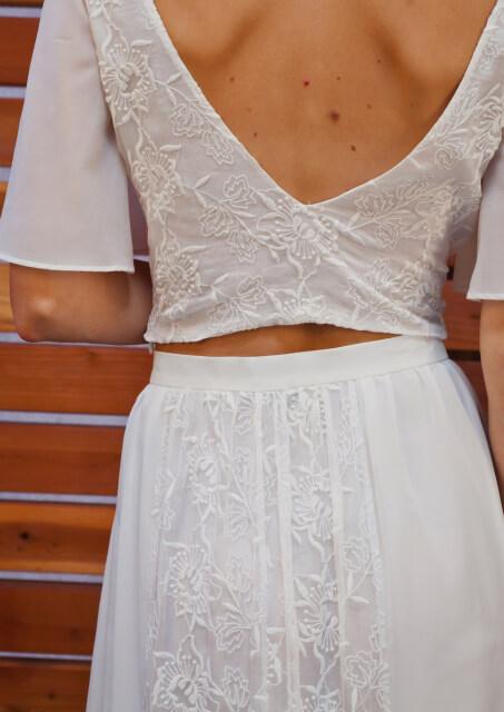 detail-shot-silk-two-piece-bohemian-wedding-dress