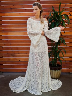 ivory-or-white-embroidered-lace-bell-sleeves-wedding-dress-for-the-boho-bride