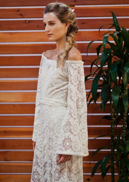 boho-lace-bell-sleeve-70s-style-hippie-wedding-dress