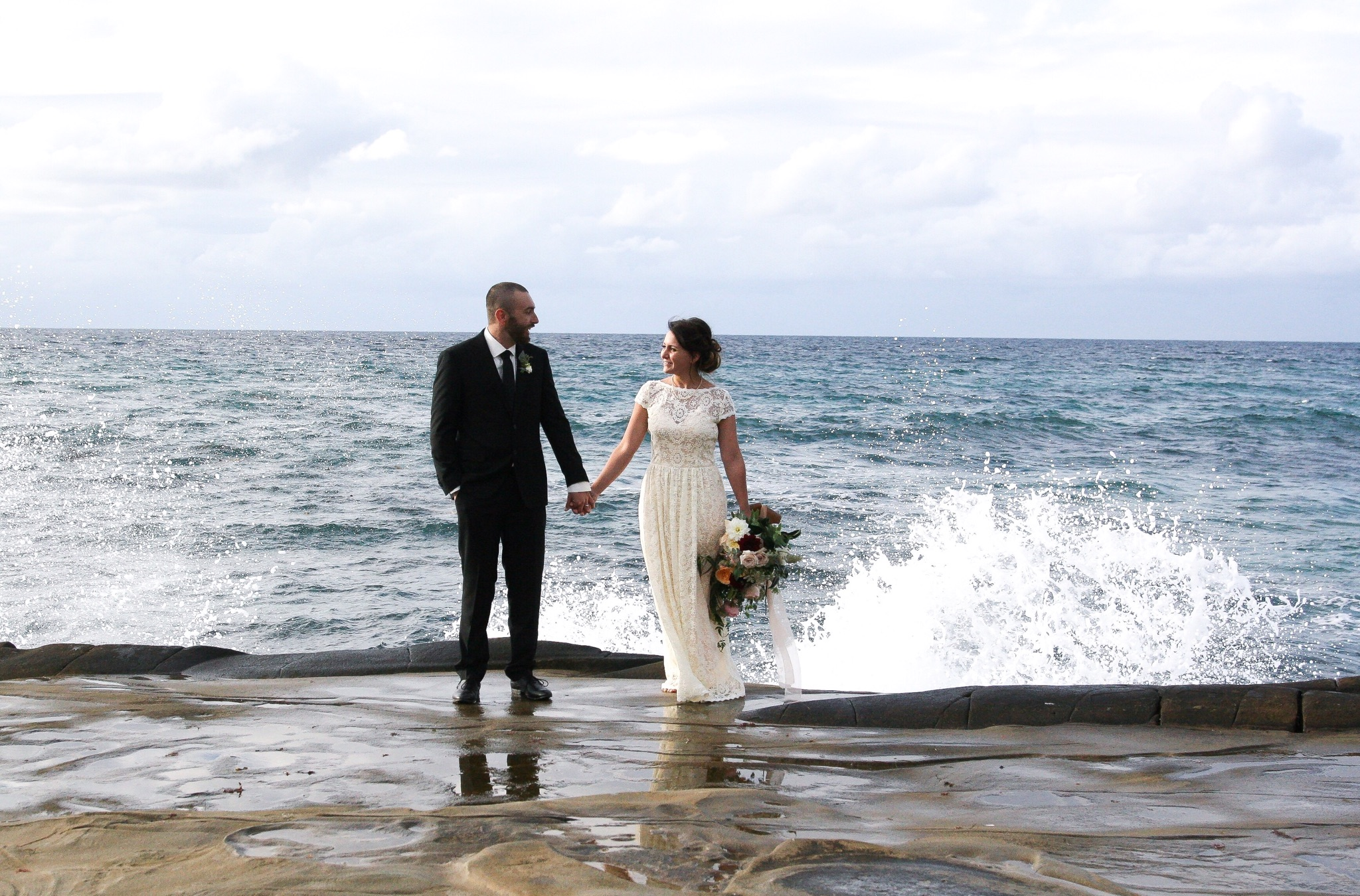 Small And Simple Boho California Beach Wedding