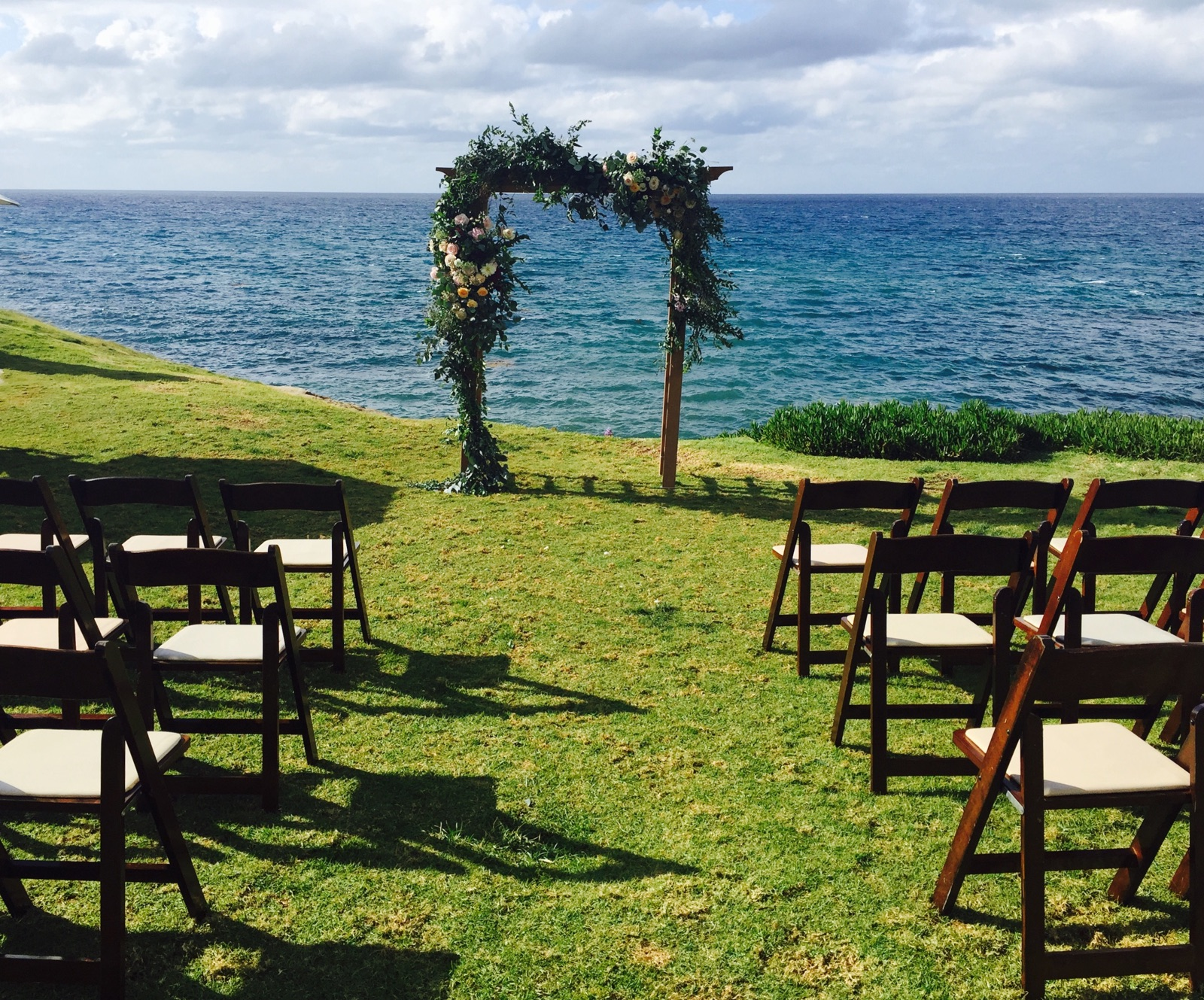 Ceremony Backdrop For Beach Wedding Small And Intimate