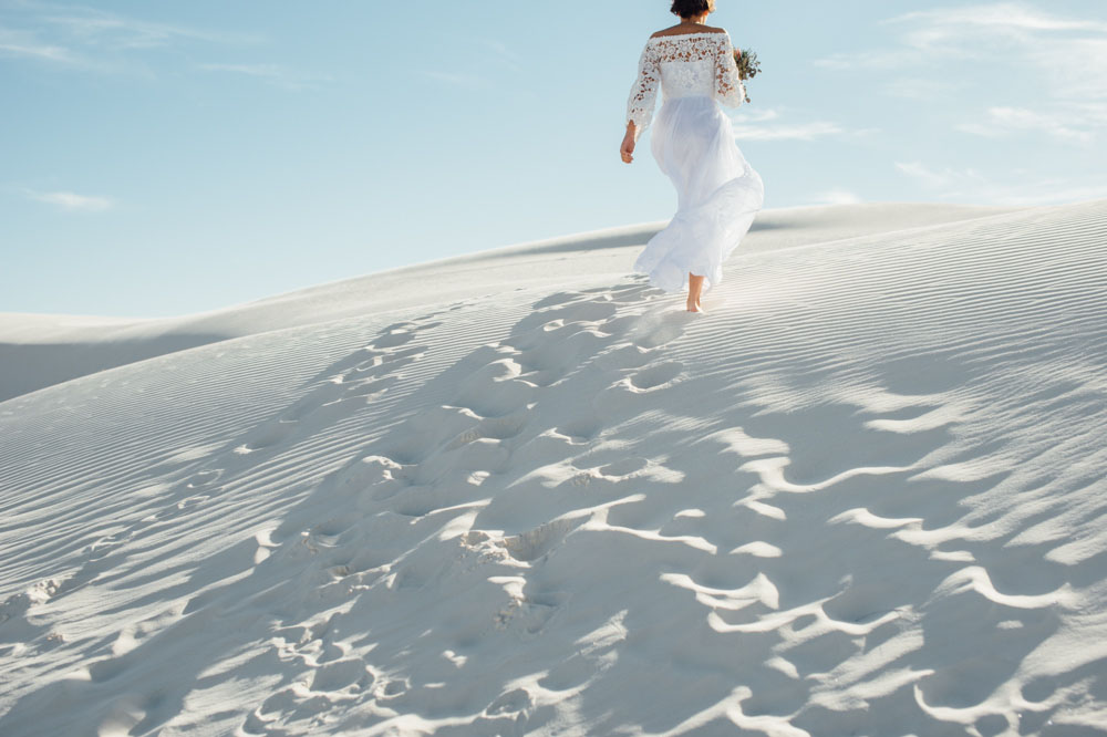 footprints-in-the-sand-stunning-effortless-bride-in-2-piece-bohemian-wedding-dress