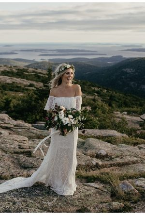 boho-bride-wearing-lottie-off-the-shoulder-lace-wedding-dress