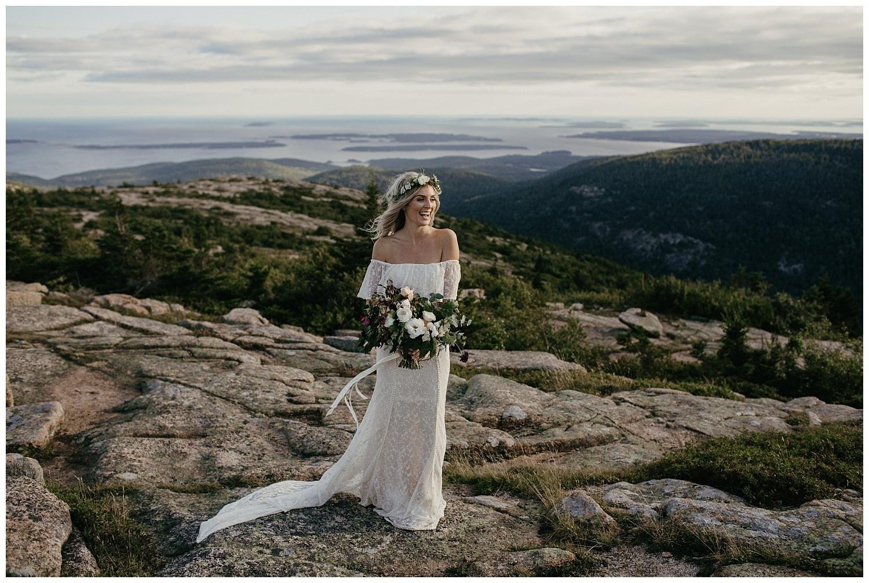 boho-bride-wearing-lottie-off-the-shoulder-lace-wedding-dress