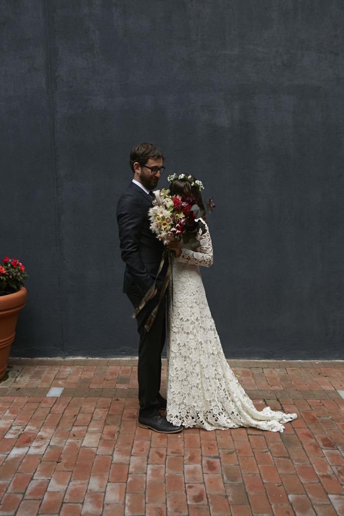bohemian-bride-emily-wearing-dreamers-and-lovers-crochet-lace-Brigette-dress