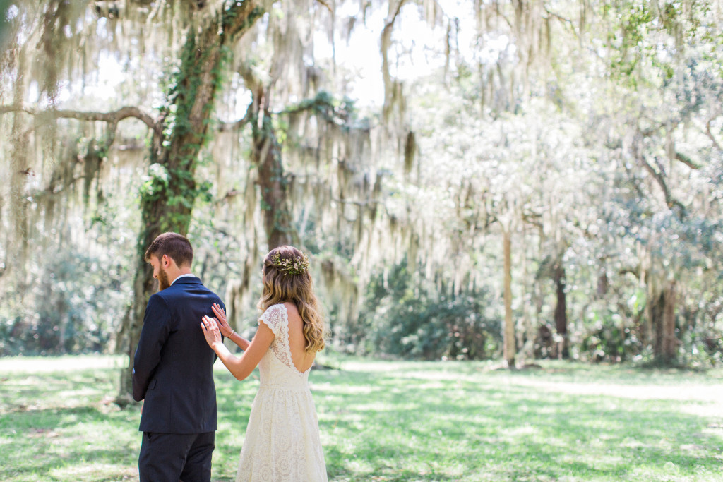 first-look-photo-bohemian-bride-and-groom