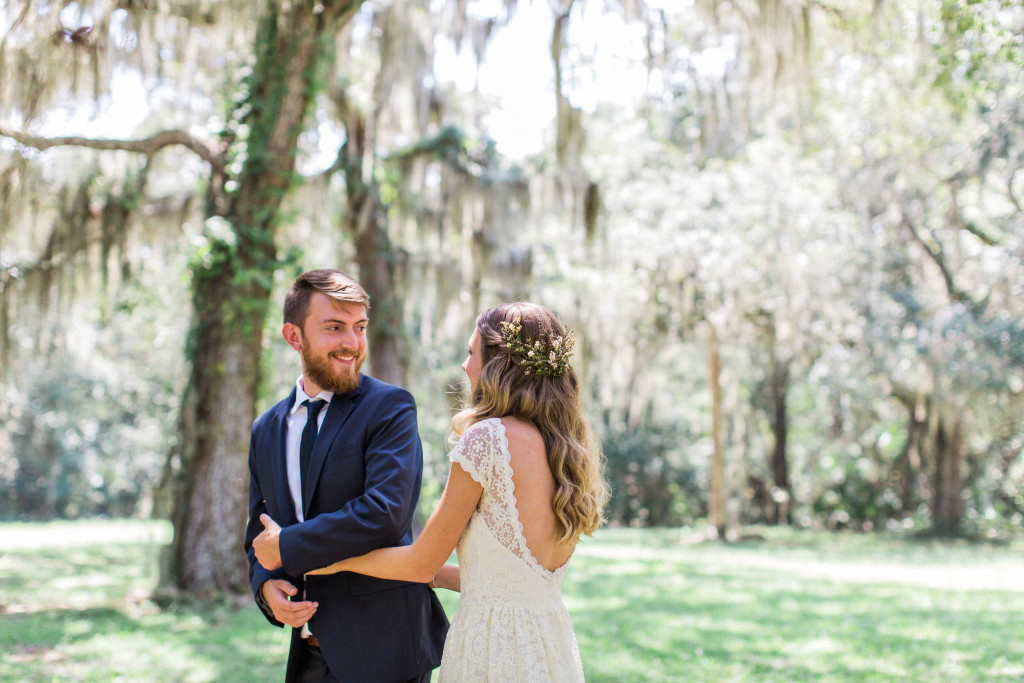 a-groom-sees-his-bride-for-the-first-time-at-their-bohemian-wedding