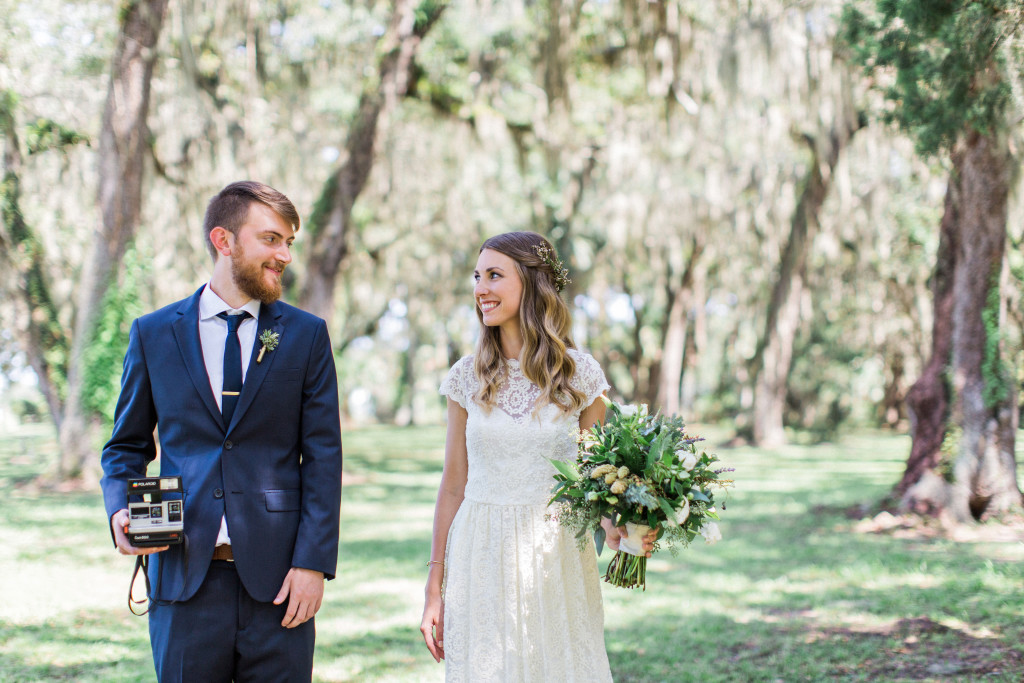 bohemian-bliss-young-lovers-wed-in-a-Florida-boho-wedding-bride-wearing-an-elegant-and-simple-wedding-dress